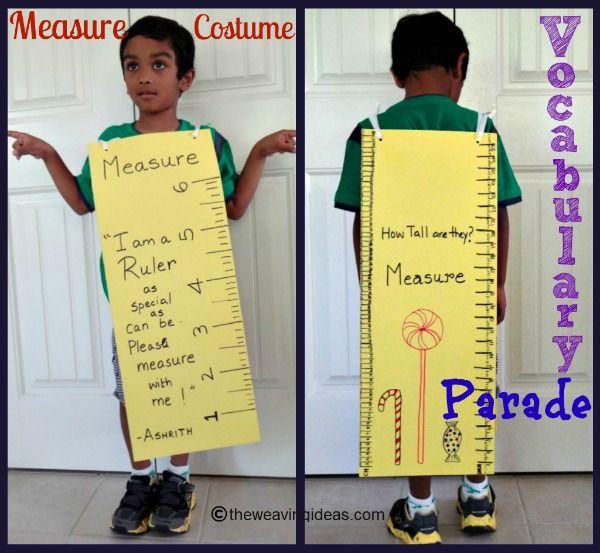 Measuring Ruler Costume for Vocabulary Parade : Handmade paper costume for Kindergarten Parade