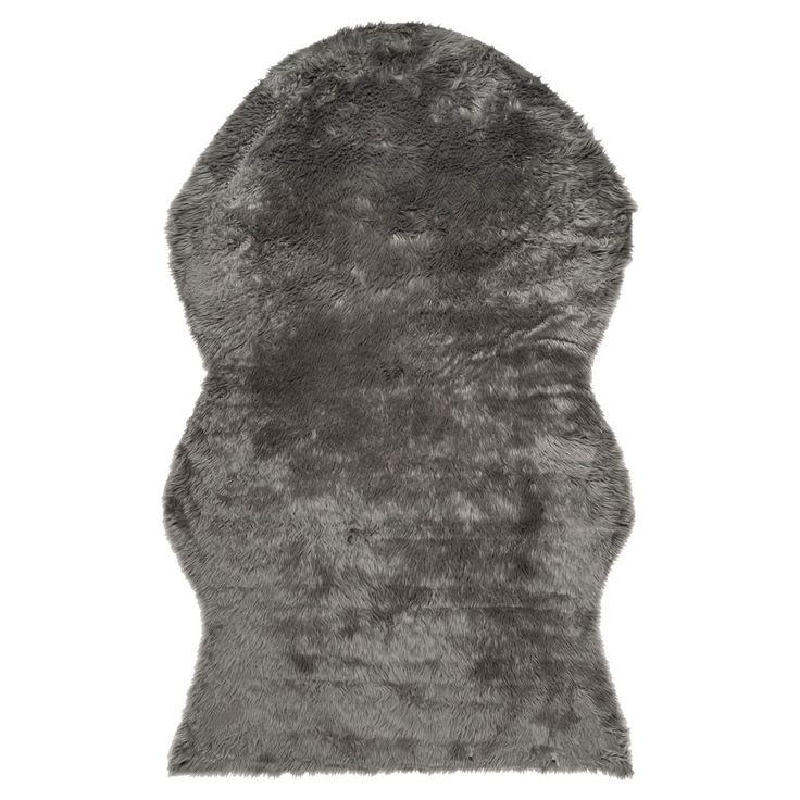 Haven Faux Sheepskin Rug - Gray (6'x9') - Safavieh