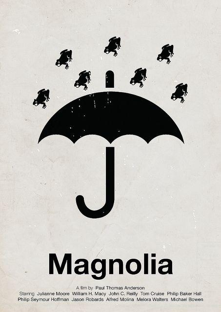 'Magnolia' A film by Paul Thomas Anderson- pictogram movie poster by Viktor Hertz
