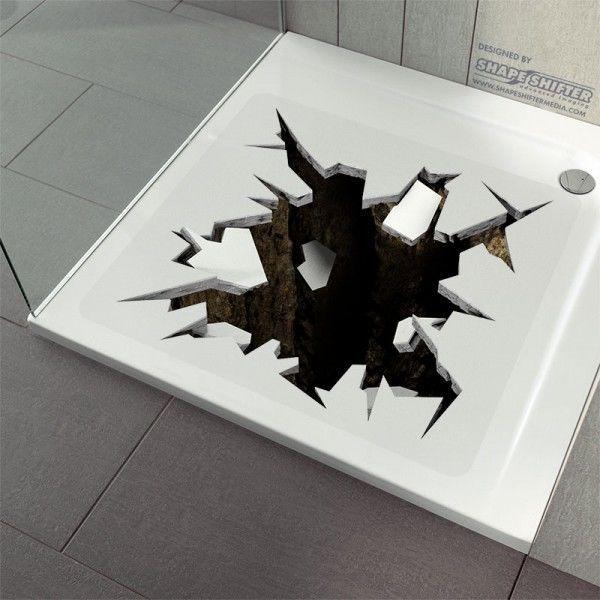 anti rutsch dusche badewanneneinlage duschmatte duscheinlage 3d loch real in mbel wohnen badzubehr - Antirutschmatte Dusche Rund
