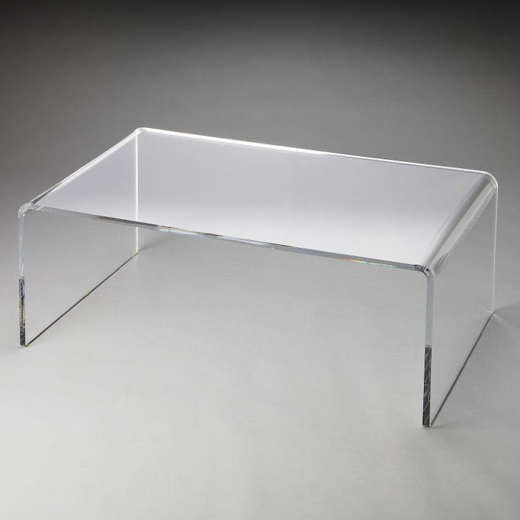 Butler Crystal Clear Acrylic Coffee Table   Butler Loft
