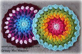 Zooty Owl   Granny Mini Mandala #tutorial #yarndale2014 #freecrochetpattern