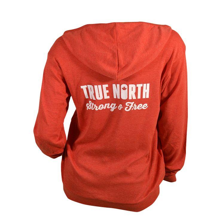 Canada: True North Strong & Free | Light Zip-Up Hoodie ASSKICKER INK.  Regular price $45.00