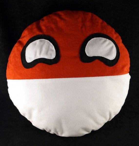 Polandball plushie, pillow