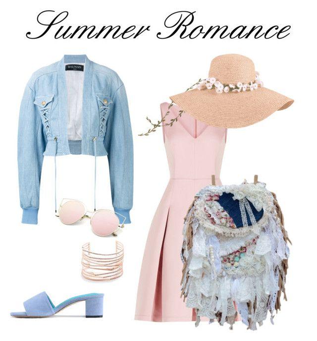 """Summer Romance"" by alenka-lishakova on Polyvore featuring BCBGMAXAZRIA, Balmain and Alexis Bittar"