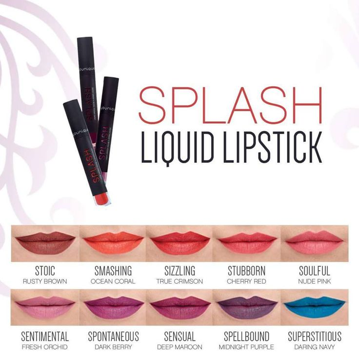 Splash Liquid Matte Lipsticks... Available to purchase in just 2 days from the 1st October.. Purchase from my website from the 1st or send me a message to be added to my pre order list.. FB Younique UK Beauty With Char
