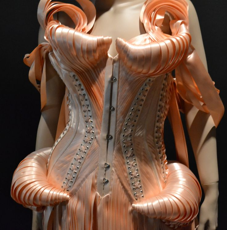 Gaultier Strip Corset detail