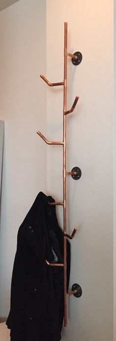 Copper Pipe Coat Rack by Cu29design on Etsy