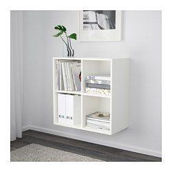 EKET Skåp med 4 fack, vit - vit - IKEA