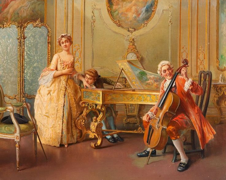 Rococo painting of family playing together zoppi antonio for Rococo period paintings