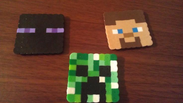 Perler bead minecraft creeper steve enderman 1 - Minecraft creeper and steve ...
