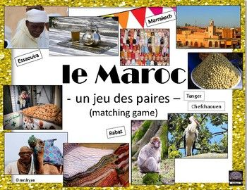 FRENCH – le Maroc – un jeu des paires – Morocco matching game