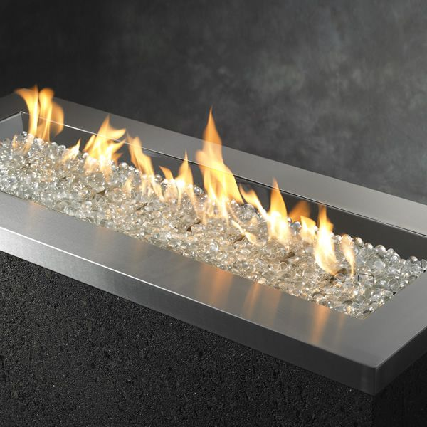 Key Largo Linear Gas Fire Pit Stainless Steel 42