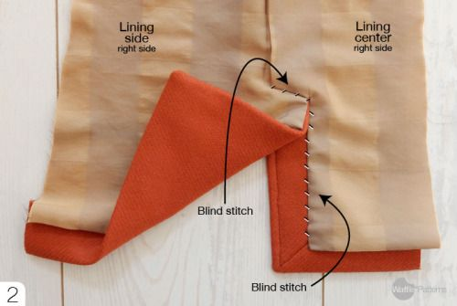 how to sew vent for Tosti Utility jacket Waffle Patterns sewing patterns