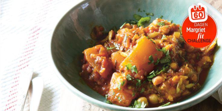 Dag 18   Recept: noord-Afrikaanse stoofpot van pompoen en kikkererwten Gezonde recepten, Koken, Recepten - Margriet