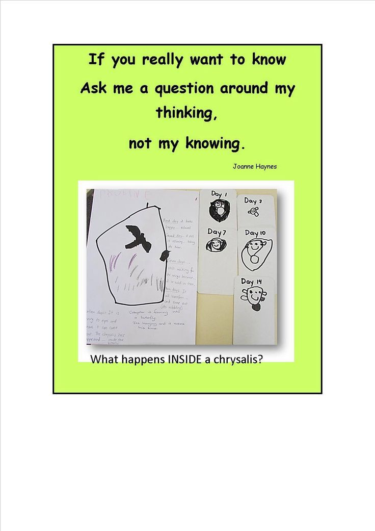 Ask children what they are thinking!