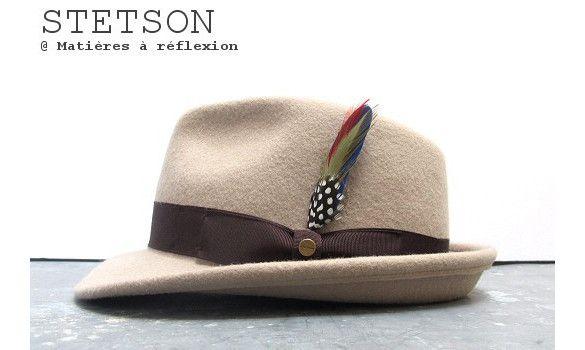 Stetson chapeau Elkader feutre beige #chapeau #hat #chapeaux #hats #feutre #stetson #brown #marron #kaki #khaki #wool #madeinitaly