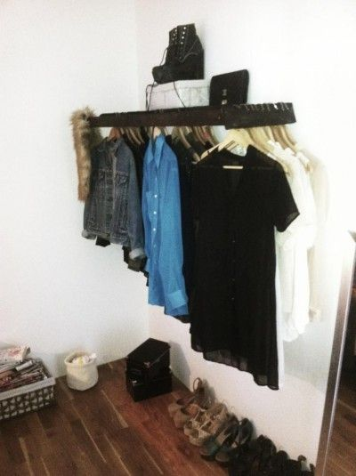 DIY - Turn a small ladder into a clothing rack and shelf! Genius idea!!