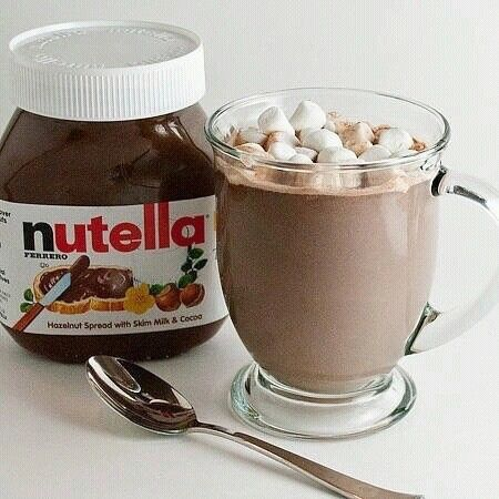 grafika nutella, chocolate, and food