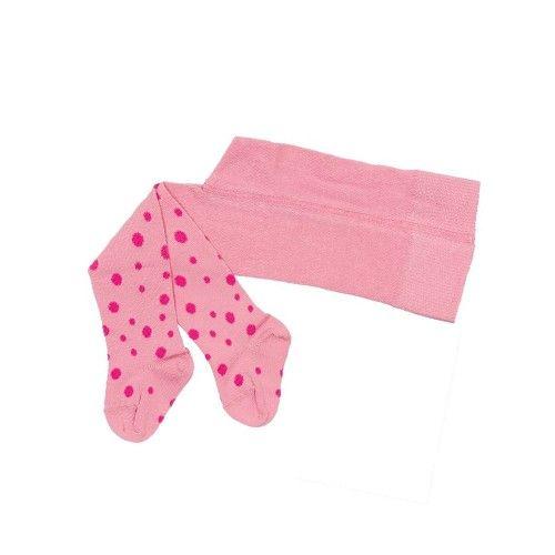Strømpebukse - rosa med prikker
