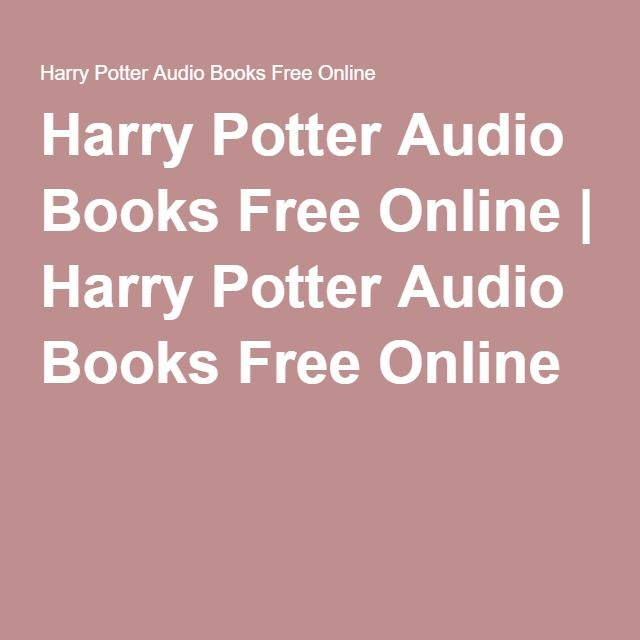 harry potter books pdf download