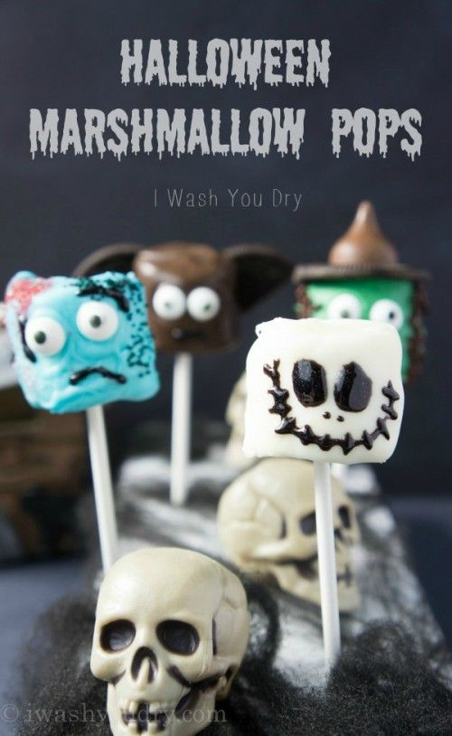 Halloween Marshmallow Pops {full picture tutorials included!}: