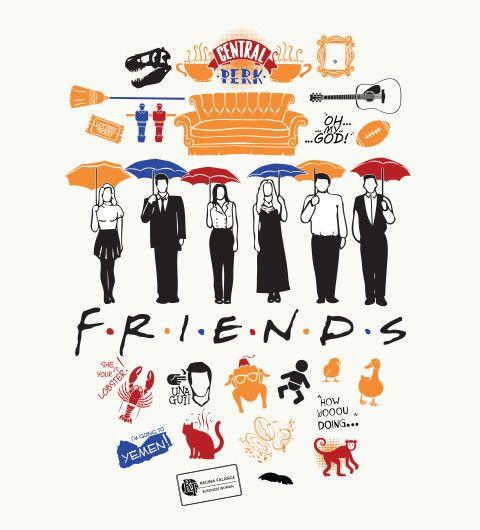 Reverbcity Shop - Camisetas/T-shirts Friends                                                                                                                                                     Mais
