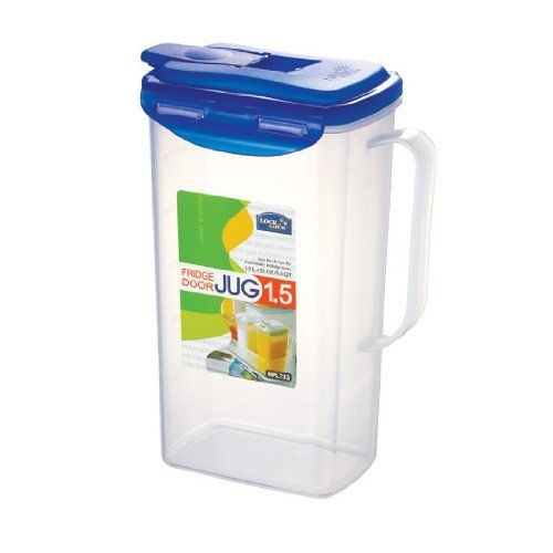 Lock 51-Fluid Ounce Water Jug with Flip Top Lid, Polypropylene, 6.2-Cup by Lock $10.47. Microwave, freezer, and top rack dishwasher safe. 6.2-Cup/51-fluid ounce. Airtight seal with great elasticity power locks tightly with hollow-center silicon. Made of high quality BPA free plastic. At a Glance...  Convenient food-storage containers Airtight and watertight Made of high-quality BPA-free plastic Food-safe and hygienic 4-sided locking system with sili...
