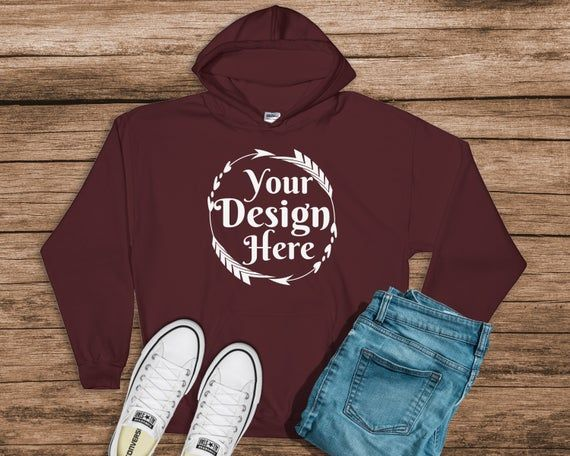 Download Gildan 18500 Hooded Sweatshirt Brand Maroon Hoodie Mockup Etsy In 2021 Hoodie Mockup Shirt Mockup Clothing Mockup