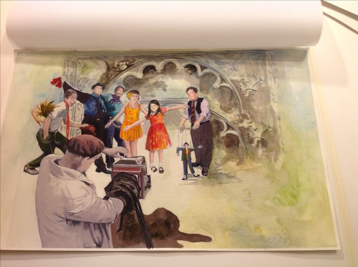 Carolyn Dee Flores - Photo of Watercolor Painting on Arches for THE CIRCUS - study