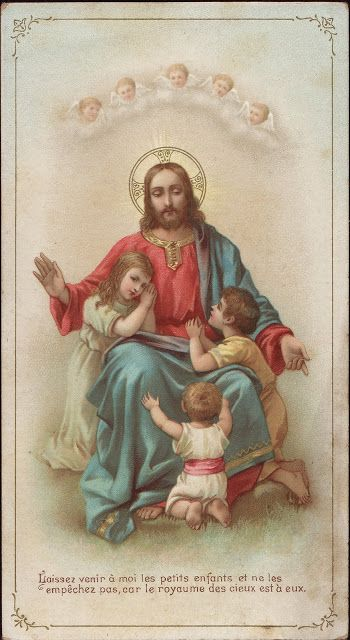 Holy Cards for Children: Jesus Blessing Children
