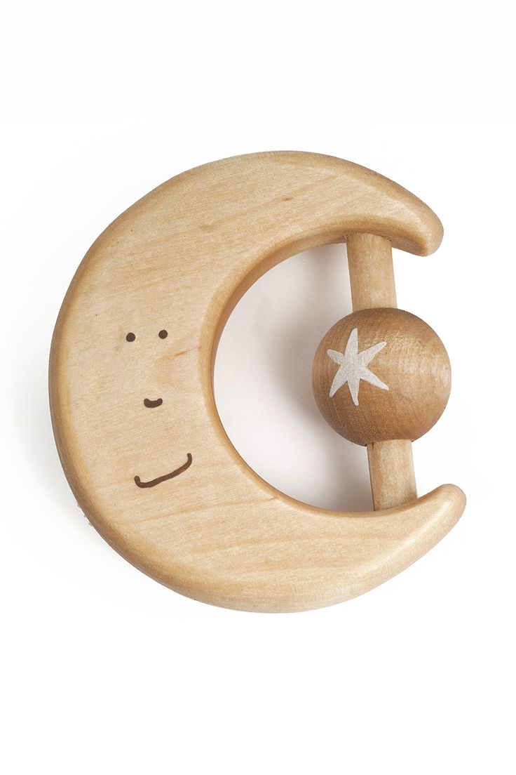 Handmade wooden toy, natural teether, organic baby toy