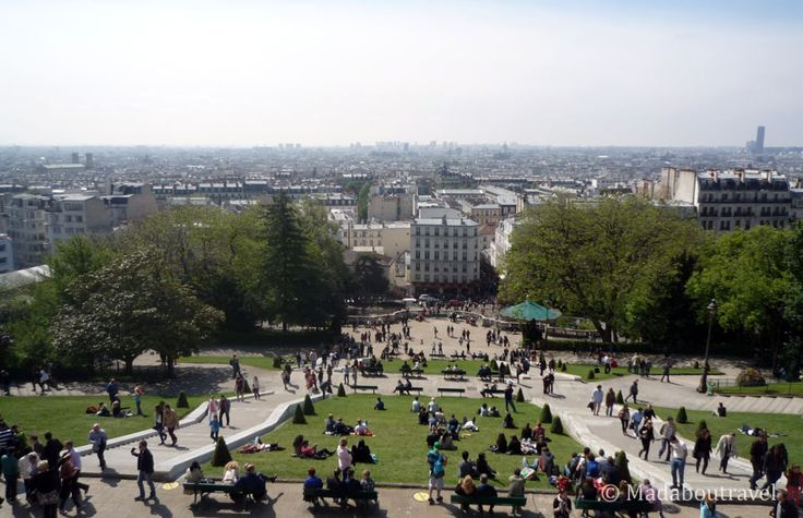 Perfect views of Paris from Montmartre