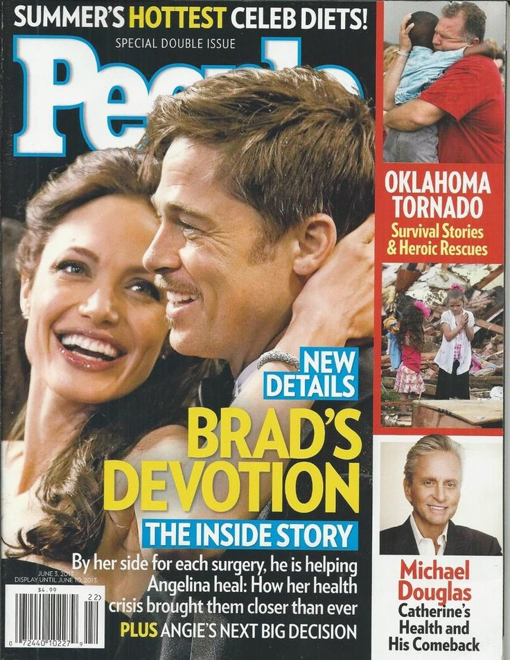 People magazine Angelina Jolie Brad Pitt Michael Douglas Celebrity summer diets