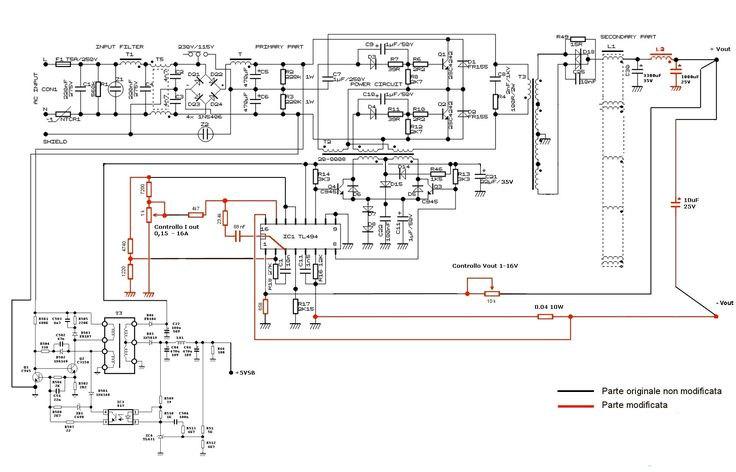Component, Assist Me In Designing A High Current Variable Voltage Switch Mode Power Supply Circuit Diagram Atx Sche Schematic Elenco Hp Dc Using Lm317 Pc Radio Shack 100 Kv Kit From Fixed Regulator: variable voltage power supply