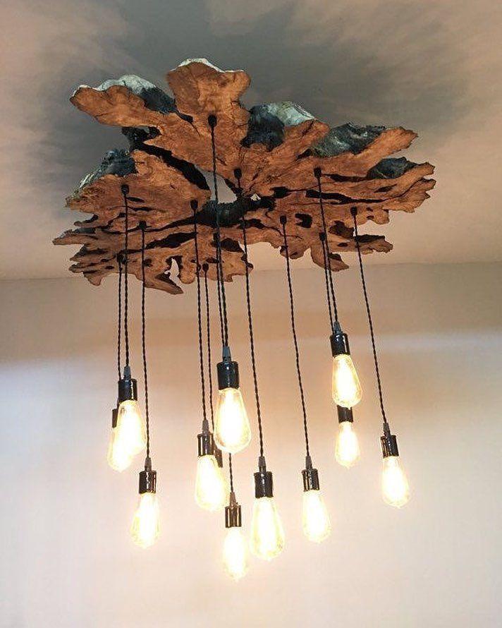 Odun Z Kok Sarkit Rustikale Leuchten Rustikale Beleuchtung