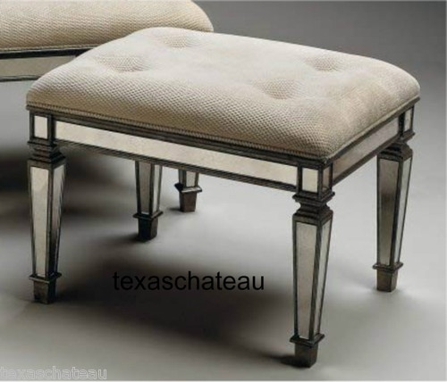 Shabby French Venetian Chic Style Mirrored Vanity Bench Foot Stool Ottoman  Chair | eBay - 42 Best DIY Vanity Ideas & Tips Images On Pinterest