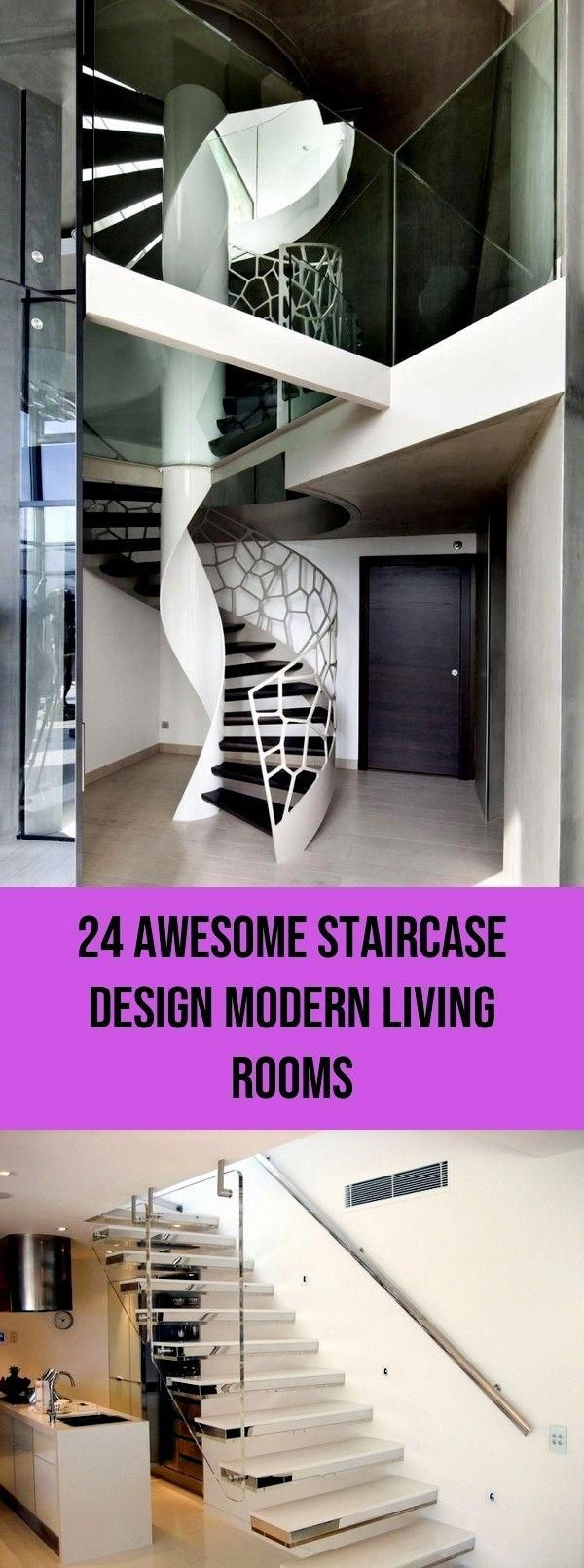 Best Cool Staircase Design Modern Living Rooms Entryway 24 400 x 300