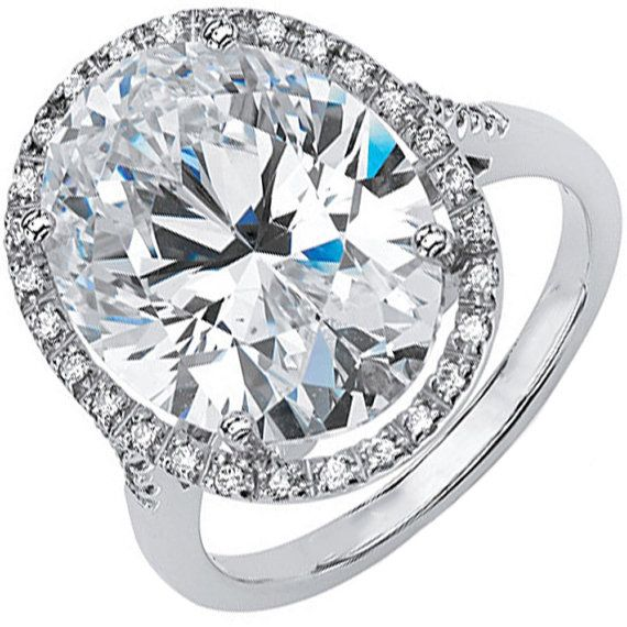 GIA Certified Oval Cut Diamond Engagement Ring 2.70ct Halo