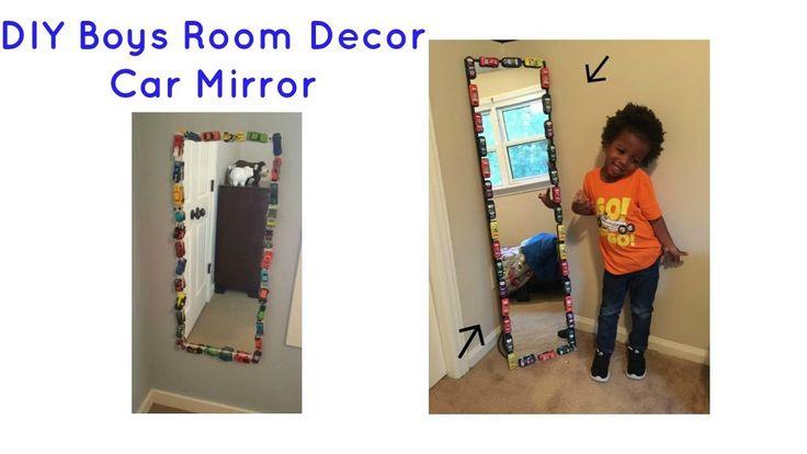 DIY Car Mirror | Boys Truck Room Decor