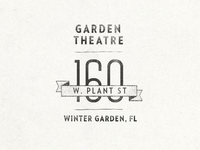 logo: Theatres, Hungry Gardener, Logo Design, Logo Loco, Lovely Logos, Gardens