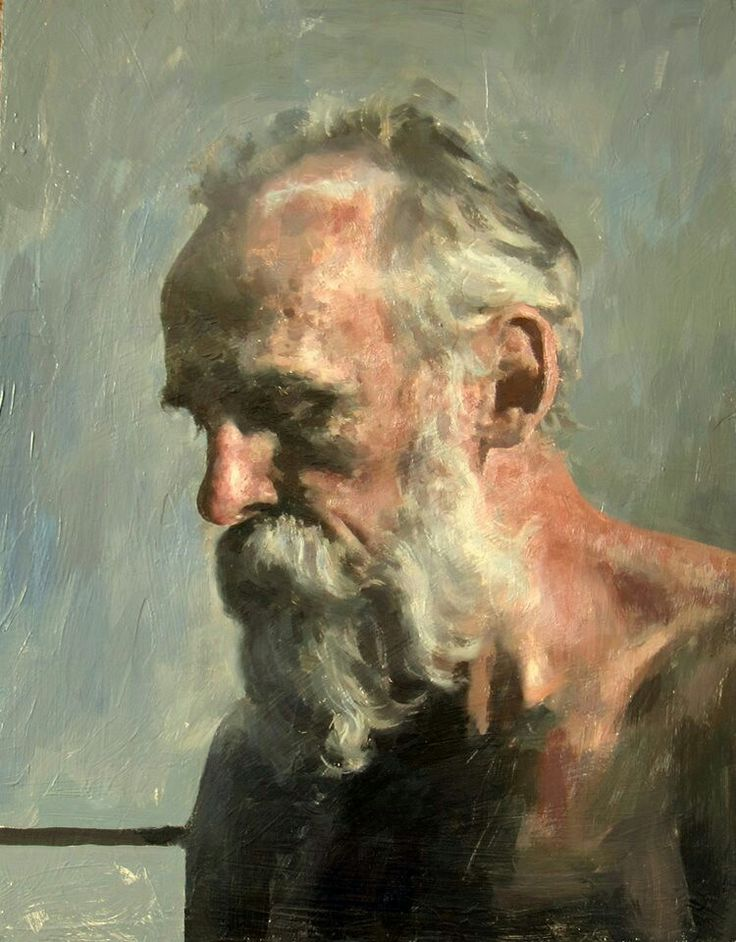 Hollis Dunlap painting of elderly bearded portrait -repinned by http://LinusGallery.com #art #artists #oilpainting