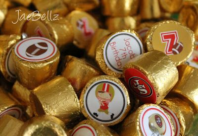 Cute promo gift idea: Put a Jukem Football sticker on the end of Rolo candies    I could totally do this myself start to finish....