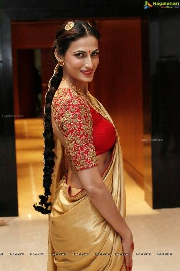 Gold n red saree
