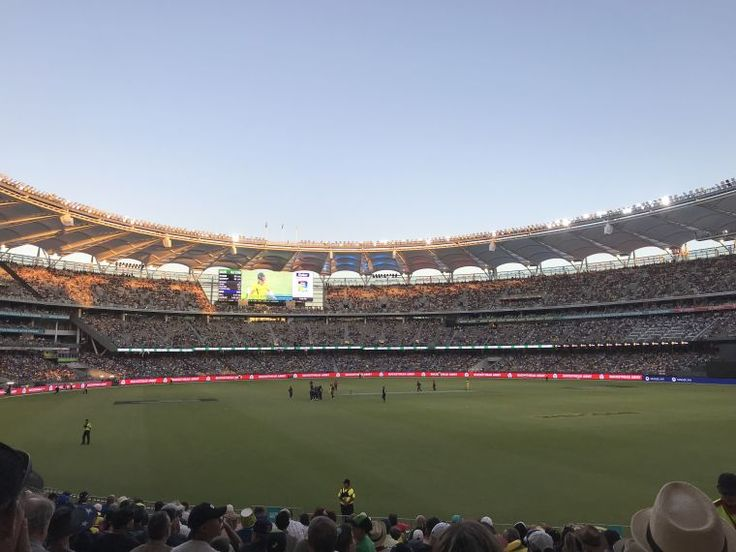 BA2941/1: The first sports fixture at the new stadium: the Gillette One Day International cricket match between Australia and England 28 January 2018 http://encore.slwa.wa.gov.au/iii/encore/record/C__Rb5529353