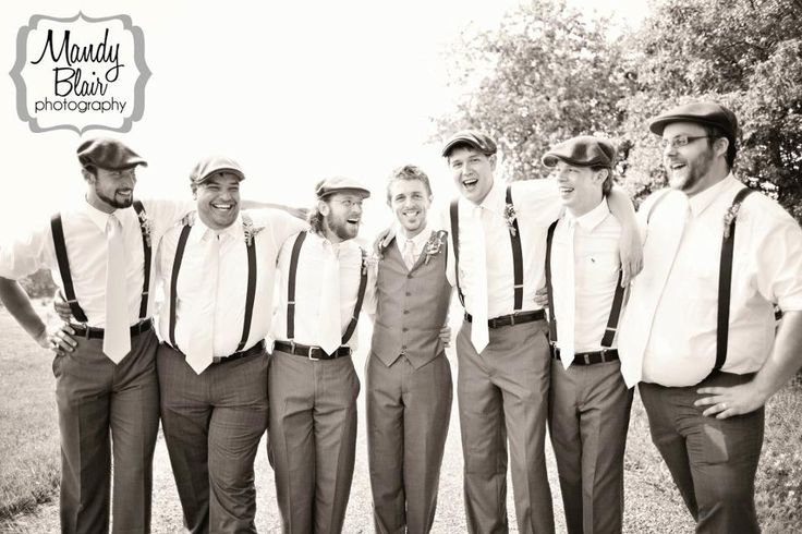 wedding suspenders..groom with bow tie | ...  newsboy hats with suspenders finishes off any rustic wedding