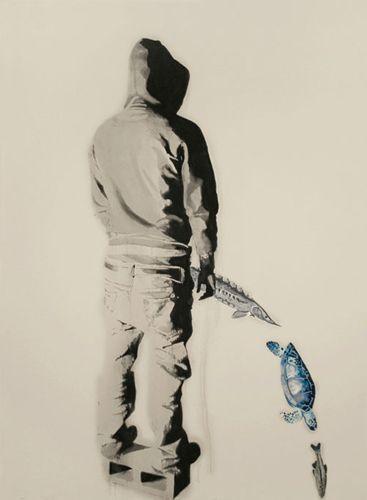 endangered_species, oil on canvas, 2007 ©Marc Seguin