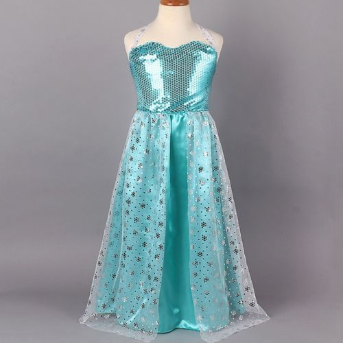Enfant-Fille-Reine-Neiges-Deguisement-Costume-Frozen-Elsa-Anna-Princesse-Robe