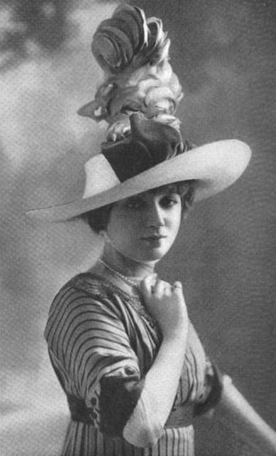 1910s: 1910 1920, Edwardian Fashion, 1910 S, 1910 1919, Fashion Hats, 1900 S, Photo