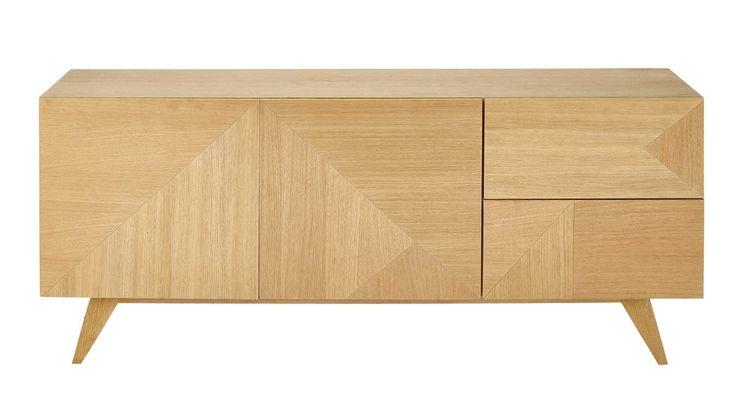 Credenza bassa in legno L 165 cm Origami | Maisons du Monde
